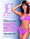 Karen McDougal Jet Mirage Nightclub 37th Birthday Celebration Promo