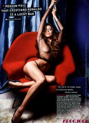 Irina Shayk braless in sheer black top in GQ magazine - Hot Celebs Home