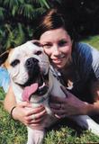 Jessica Biel Portrait With Her Dog East x25