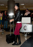 Виктория Джастис, фото 2324. Victoria Justice - Boots & Snug Plaid Jeans at LAX airport in Los Angeles on February 25, foto 2324