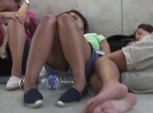 Voyeur unsuspecting sleeping girls