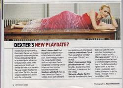 Yvonne Strahovski - TV Guide Oct 1-7 - Dexter scan and interview