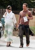Camila Alves and Matthew McConaughey going to a doctor&acute;s appointment in Brentwood, CA 14.6.08